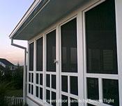 Using screen door panels