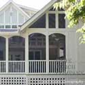 architecturally pleasing sceen porch
