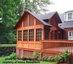 cedar screen porch design