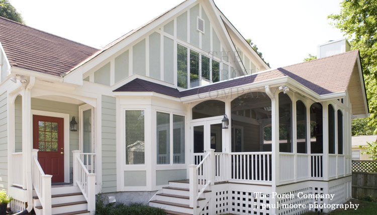 Custom Screen Porch Design With Complementary Architecture