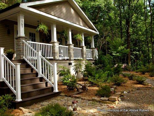 Anita's mountain home and wraparound porch