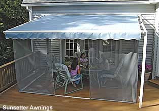 Screen Porch Kits Install On Awnings To Make A Porch