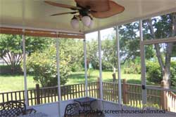 another screen porch enclosure from ScreenHouses Unlimited
