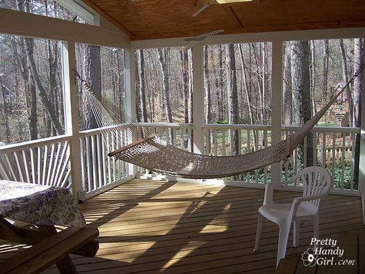 Porch makeover porch decorating screen porch decorating Screened in porch decor