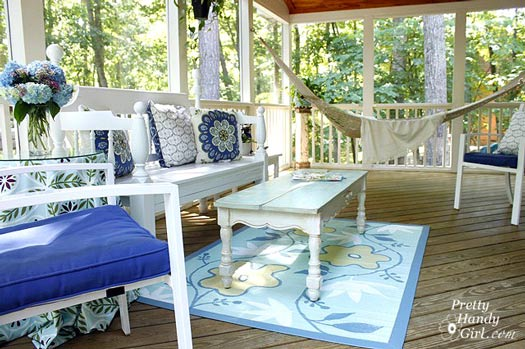 Pretty Handy Girl's screen porch makeover