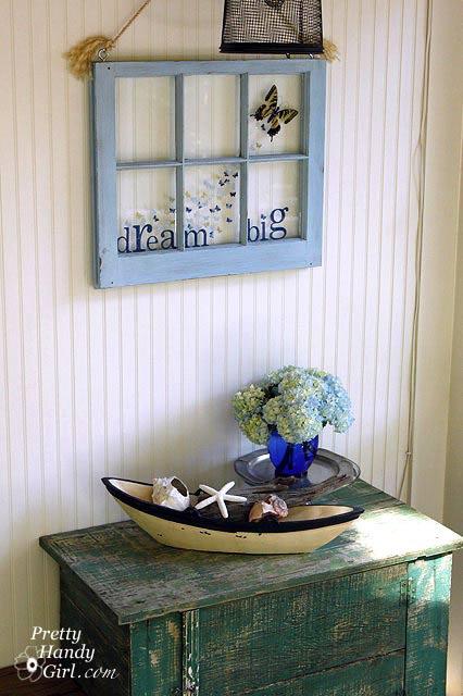 Pretty Handy Girl's screen porch makeover - cabinet $85