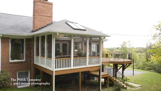 elevated enclosed porch on back deck
