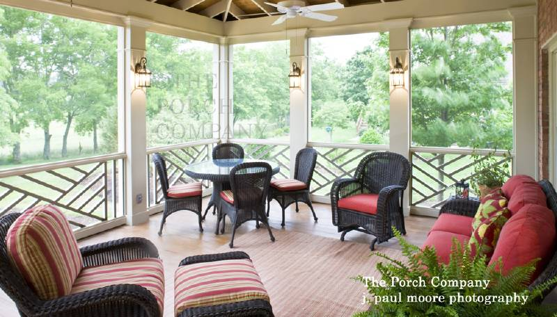 Screened In Porch Ideas Design transition example with furniture placement another screen porch Front Porch Appeal Issue 012 Screen Porch Time Screened Porch Decorating Small Screened Porch Design Ideas