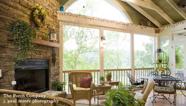 custom screen porch built by The Porch Company
