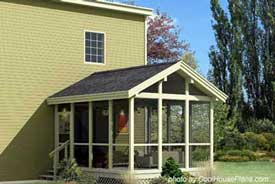 Screen porch plan by Family Home Plans