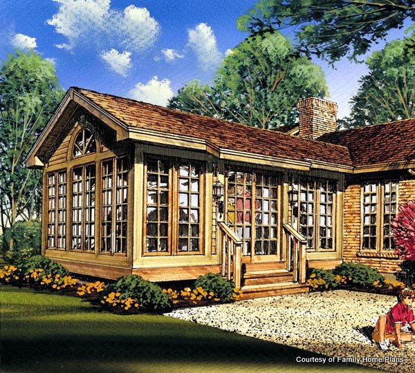 Family Home Plans Screened Porch Plan #85935