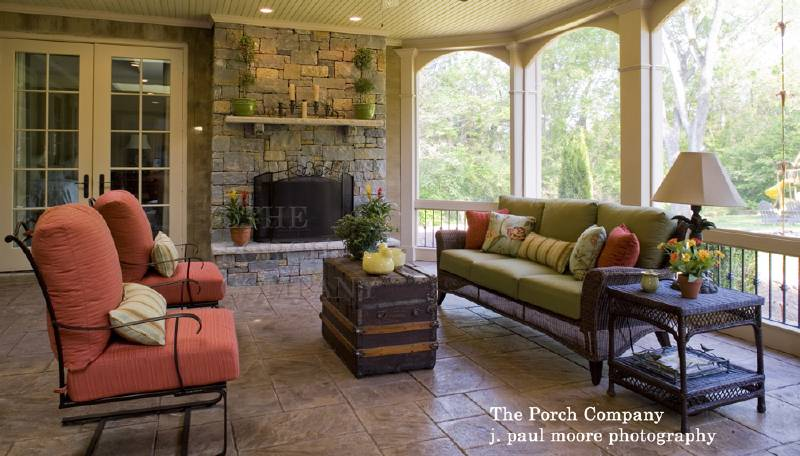 1000 images about screened porch fireplace on pinterest fireplaces front porches and screened in porch - Screened In Porch Ideas Design
