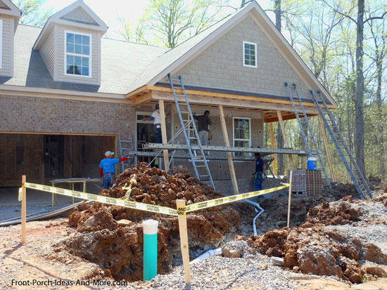 installing sewer and water service