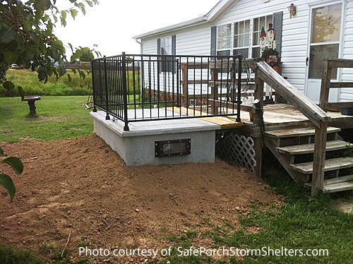 SafePorch constructed next to back deck on home