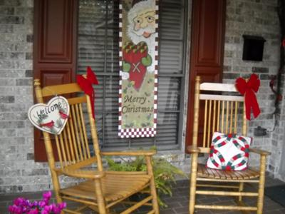 A Rock'n Texas Christmas Porch