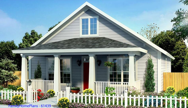 familyhomeplans.com plan 61439 with front porch