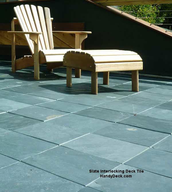 Slate decking  tiles