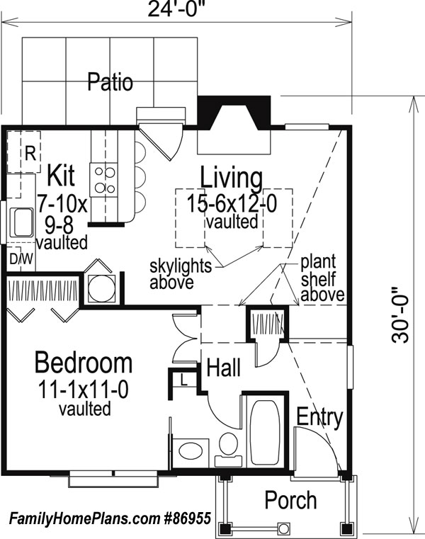 quaint small cabin house plan by family home plans 86955 - Cabin Floor Plans