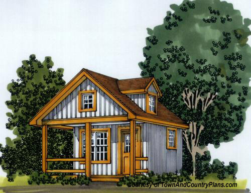 small cabin house plan by TownAndCountry.com