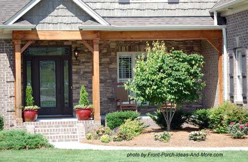 porch with both gable and shed roofs - Front Porch Design Ideas