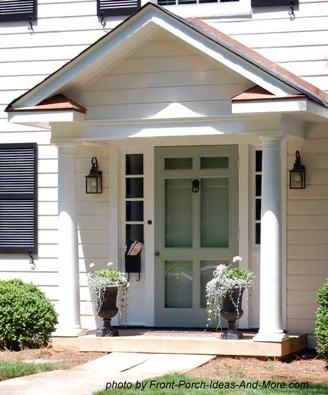 Attractive Small Front Porch On Home