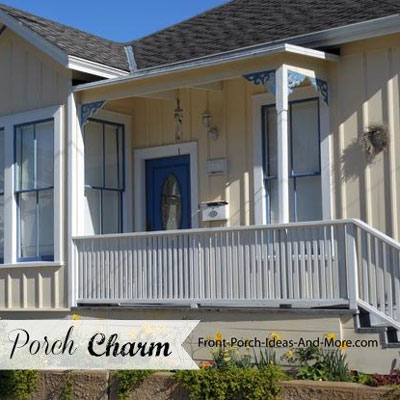 adorable small front porch from California