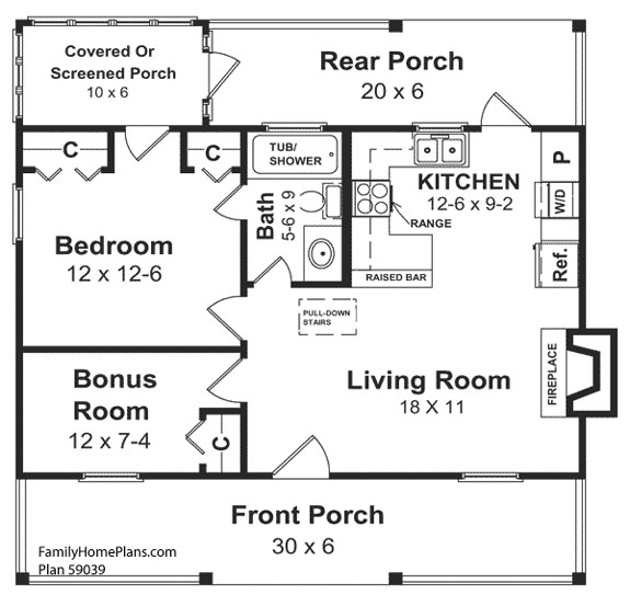 small house plans. Small Home Floor Plan 59039 By Family Plans House G