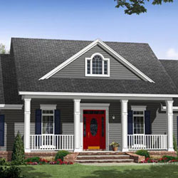 small house floor plan with porch configuration