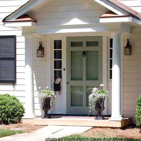 small white front porch
