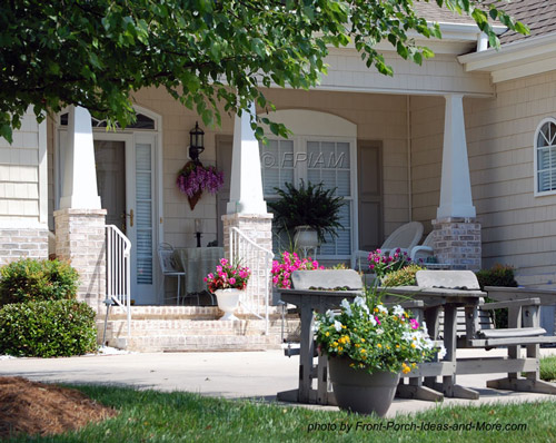 curb appealing small front porch designs for smaller porches