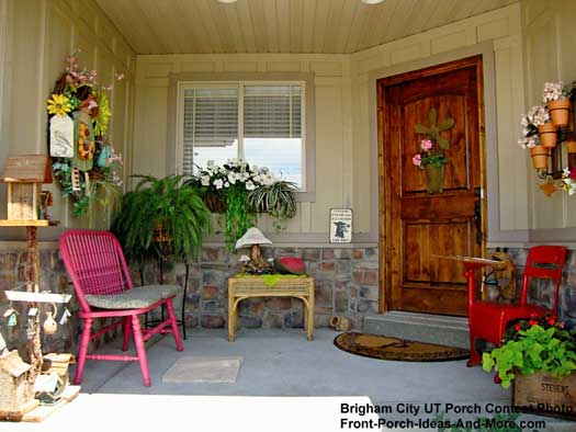 Small porch designs can have massive appeal for Tiny front porch decorating ideas