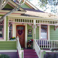 beautiful and colorful small porch