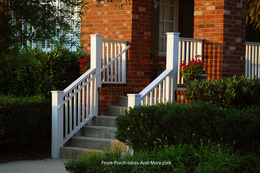 standard porch railing design