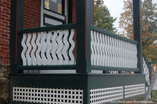 decorative small porch railings