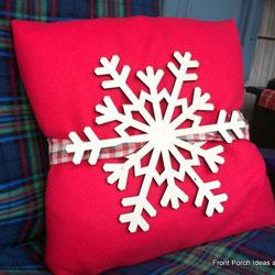 Snowflake winter pillow