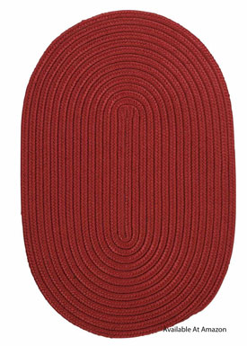 solid colored oval outdoor rug