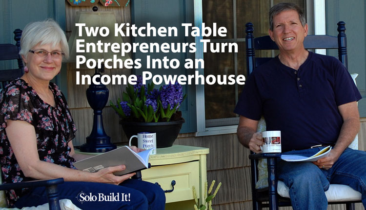 Mary and Dave are featured as kitchen table entrepreneurs