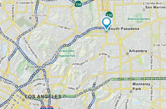 map of south pasadena california