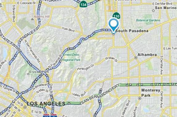 map of south pasadena california