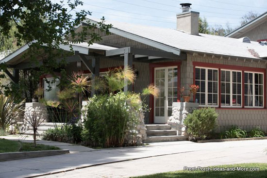 south pasadena home with beautiful front porch and landscaping