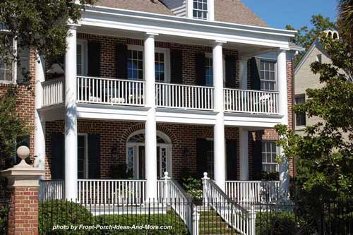 Southern home designs and southern porches see our porch for Southern homes with porches