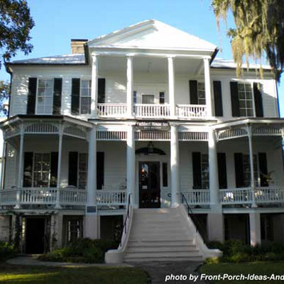 Large Two Story Southern Plantation Home. Southern Porch Design Ideas