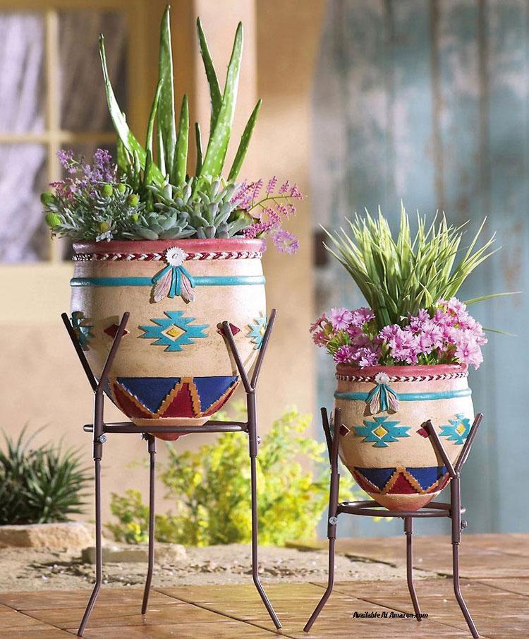 southwest porch planters