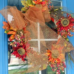 make this autumn splendor wreath