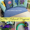 floral design painted on pillows for front porch