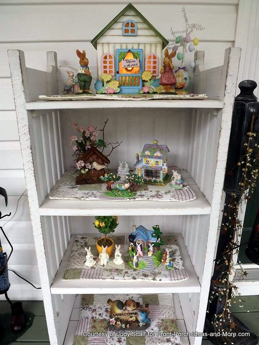 Judy's seasonal cabinet her husband made for her