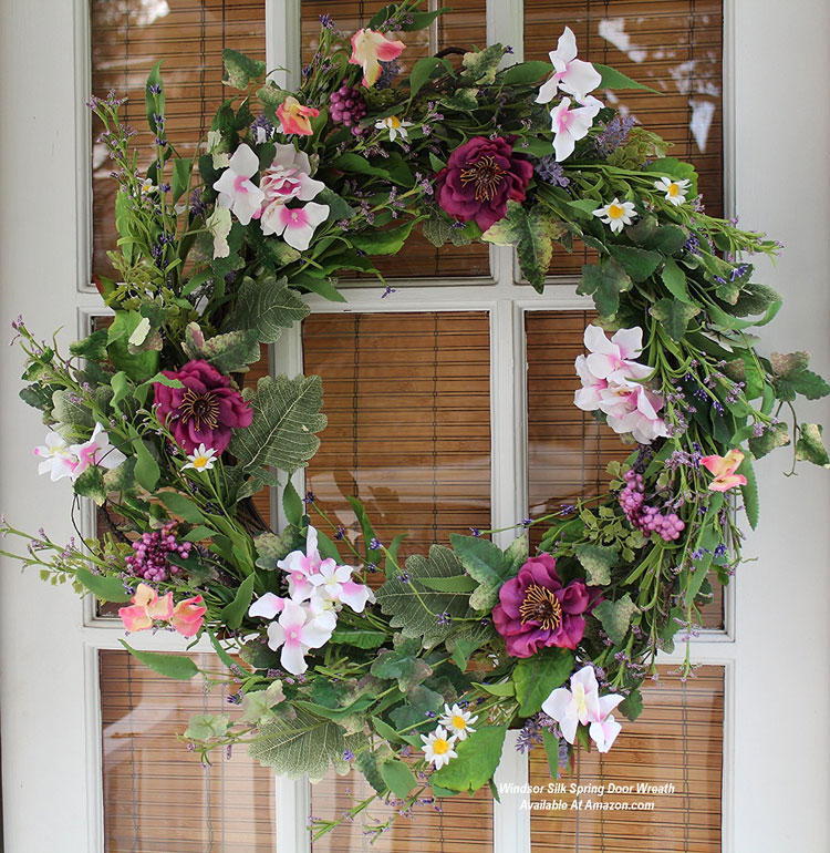 Windsor Silk Spring Door Wreath from Amazon.com