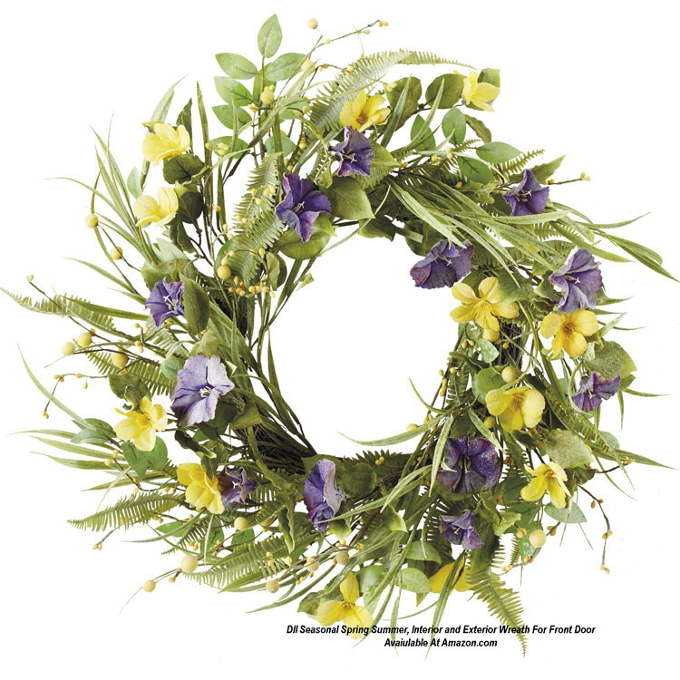 DII Seasonal Spring Summer, Interior and Exterior Wreath For Front Door from Amazon.com