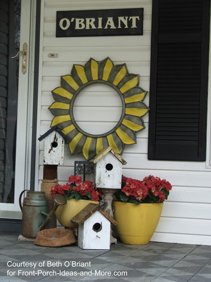 Beth's springtime porch