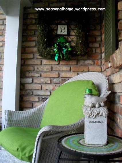 Front porch decorating for holidays for St patricks day decorations for the home
